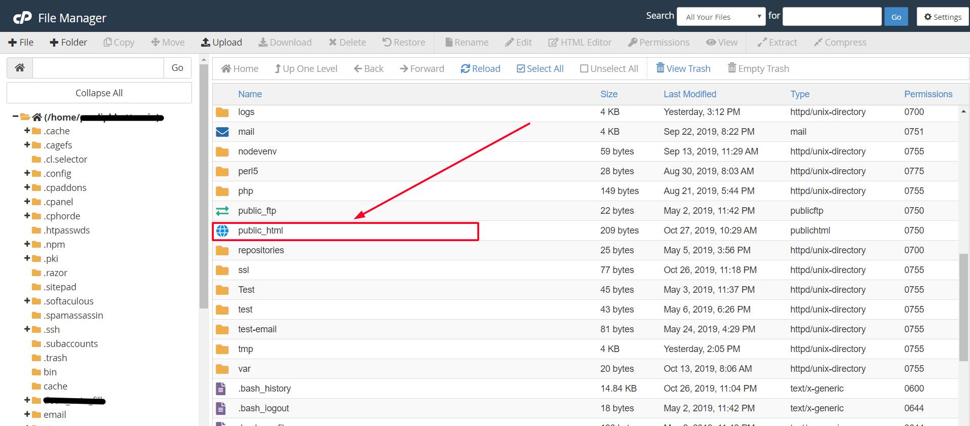 public_html-directory-file-manager-hostingsewa