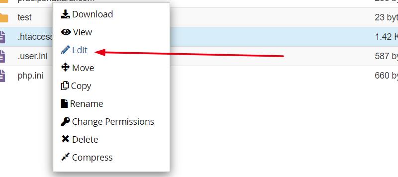 right-click-edit-htaccess-file